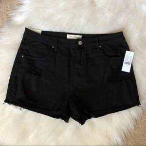 NEW Pacsun Black High Rise Denim Shorts